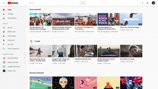 Youtube clean design reheart Image collections